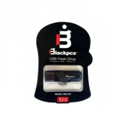Memoria USB Blackpcs MU2107, 128GB, USB 2.0, Negro