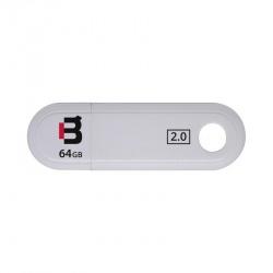 Memoria USB Blackpcs MU2109, 64GB, USB 2.0, Blanco
