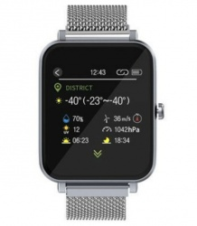 Blux Smartwatch H1103A, Touch, Bluetooth, Android/iOS, Plata