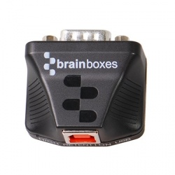 Brainboxes Adaptador Serial Macho - USB-B Hembra, Negro