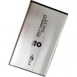 BRobotix Gabinete de Disco Duro 001663 2.5'', SATA, Plata