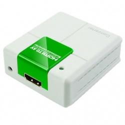 BRobotix Adaptador HDMI Hembra - 3x RCA Hembra, Blanco/Verde