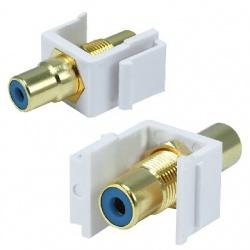 BRobotix Conector RCA, Blanco/Azul