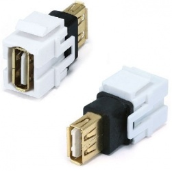 BRobotix Jack Tipo USB A Hembra - USB A Hembra, Blanco