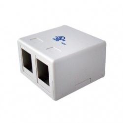 BRobotix Caja Roseta 070894, 2 Puertos, Blanco