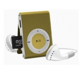 BRobotix Lector MicroSD y Reproductor MP3, USB 2.0, Oliva
