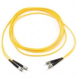 BRobotix Cable Fibra Óptica Monomodo 2x ST Macho - 2x ST Macho, 2 Metros, Amarillo