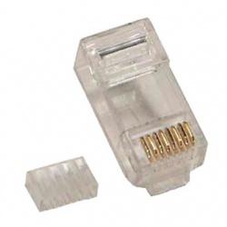 BRobotix Conector RJ-45, Transparente, 100 piezas