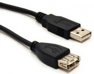 BRobotix Cable USB 2.0 A Macho - USB 2.0 A Hembra, 3 Metros, Negro