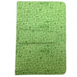BRobotix Funda con Teclado para Tablet 10'', micro USB, Diseño Oso Verde