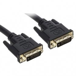 BRobotix Cable DVI-D Macho - DVI-D Macho, 3 Metros, Negro