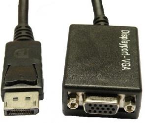 BRobotix Adaptador DisplayPort Macho - VGA Hembra, Negro