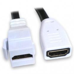 BRobotix Cable HDMI Tipo A HDMI Hembra - HDMI Hembra, 12cm, Negro/Blanco