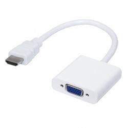 BRobotix Adaptador HDMI Macho - VGA (D-Sub) Hembra, Blanco