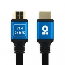 BRobotix Cable V1.4 HDMI Macho - HDMI Macho, 12 Metros, Negro/Azul
