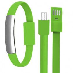 BRobotix Cable USB A Macho - Micro-USB B Macho, 22cm, Verde