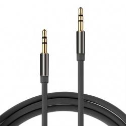 BRobotix Cable AUX 3.5mm Macho - 3.5mm Macho, 1.3 Metros, Negro