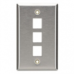 BRobotix Placa de Pared, 3 Puertos, Blanco