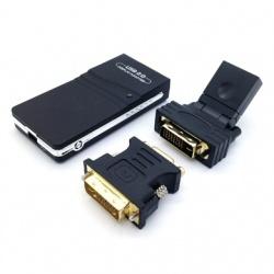 BRobotix Convertidor USB C Macho - VGA/DVI/HDMI Hembra, Negro