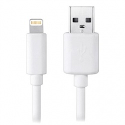 BRobotix Cable Lightning Macho - USB Macho, 3 Metros, Blanco