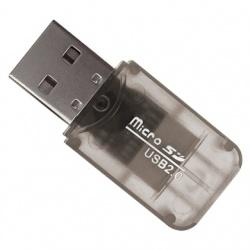 BRobotix Lector de Memoria 180412N, MicroSD, USB 2.0, Negro