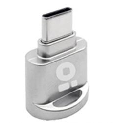 BRobotix Lector de Memoria 180430, MicroSD, USB, Plata