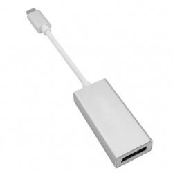 BRobotix Adaptador USB-C Macho - Displayport Hembra, Plata