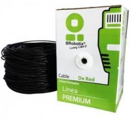 Brobotix Bobina de Cable Cat5e UTP, 305 Metros, Negro