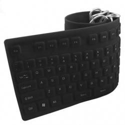 Teclado BRobotix Flexible 801935, Alámbrico, USB + PS/2, Negro (Español)
