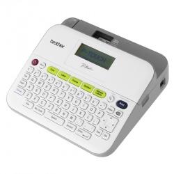 Brother P-Touch D400, Impresora de Etiquetas, Transferencia Térmica, 180 x 180DPI, Inalámbrico,Gris/Blanco — Incluye 2 Cintas TZ-231