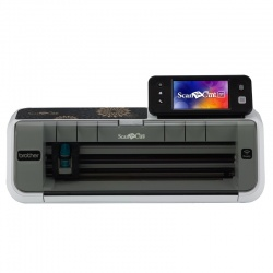 Scanner Brother ScanNCut CM350, Pantalla Táctil 4.85'', Inalámbrico, USB 2.0, Gris/Negro