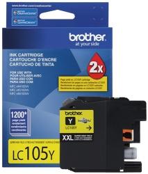 Cartucho Brother LC105Y Amarillo, 1200 Páginas