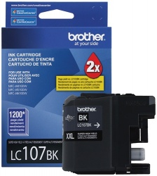Cartucho Brother LC107BK Negro, 1200 Páginas