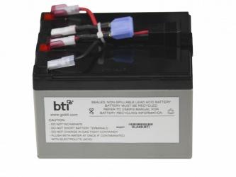 BTI Batería de Reemplazo para No Break RBC48-SLA48-BTI, 12V, 7.2Ah
