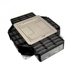 Bticino Caja de 4 Salidas, Negro/Plata
