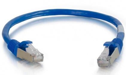 C2G Cable Patch Cat6a STP Blindado sin Enganches RJ-45 Macho - RJ-45 Macho, 1.2 Metros, Azul