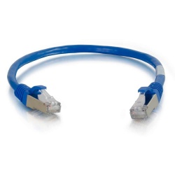 C2G Cable Patch Cat6 STP Blindado sin Enganches RJ-45 Macho - RJ-45 Macho, 1.8 Metros, Azul