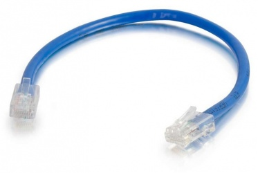 C2G Cable Patch Cat5e UTP sin Bota RJ-45 Macho - RJ-45 Macho, 15cm, Azul
