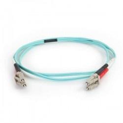 C2G Cable Fibra Óptica Dúplex Multimodo OM4 LC Macho - LC Macho, 50/125, 2 Metros, Aqua