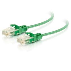 C2G Cable Patch Cat6 UTP sin Enganches Delgado RJ-45 Macho - RJ-45 Macho, 30cm, Verde