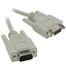 C2G Cable VGA Macho - VGA Hembra, 1.8 Metros, Gris