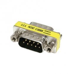 C2G Adaptador Serial DB9 Macho - DB9 Macho, Plata