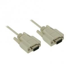 C2G Cable Serial DB-9 Hembra - DB-9 Hembra, 1.8 Metros, Beige