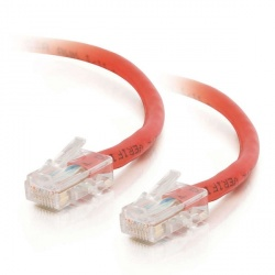 C2G Cable Patch Cat6 UTP sin Bota RJ-45 Macho - RJ-45 Macho, 60cm, Rojo