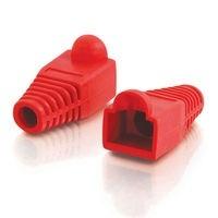 C2G Bota para Plug sin Enganches RJ-45, 6mm, Rojo, 50 Piezas