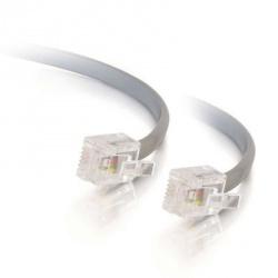C2G Cable Modular Telefónico RJ-11 Macho - RJ-11 Macho, 4.2 Metros, Gris