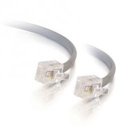 C2G Cable para Impresora RJ-12 Macho - RJ-12 Macho, 4.2 Metros, Gris