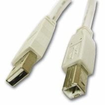 C2G Cable USB A Macho - USB B Macho, 1 Metro, Blanco