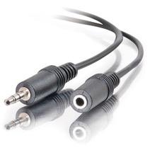 C2G Cable AUX 3.5mm Macho - 3.5mm Hembra, 1.8 Metros, Negro