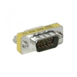 C2G Adaptador VGA Macho - VGA Hembra, Plata